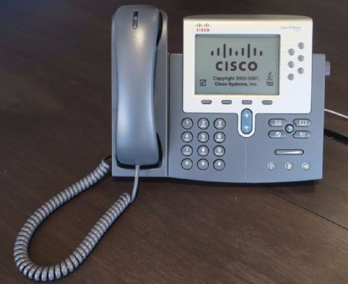 Cisco CP-7962G Unified IP VoIP Business Telephone Desk Phone Grey 7962
